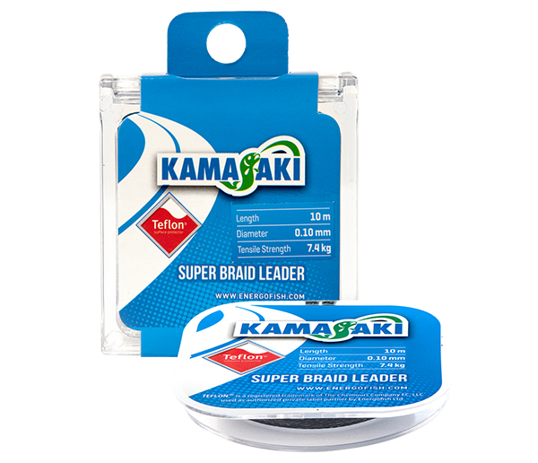 KAMASAKI SUPER BRAID LEADER 10M 0.10MM 7,4KG